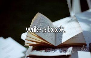 write a book before I die